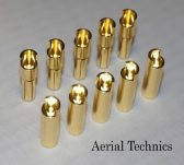 5 pairs 5MM GOLD PLATED M&F BULLETS